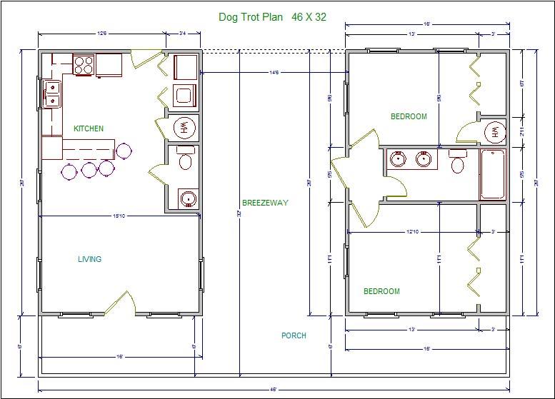 LSSM13 Dog Trot Plan - LoneStar Builders